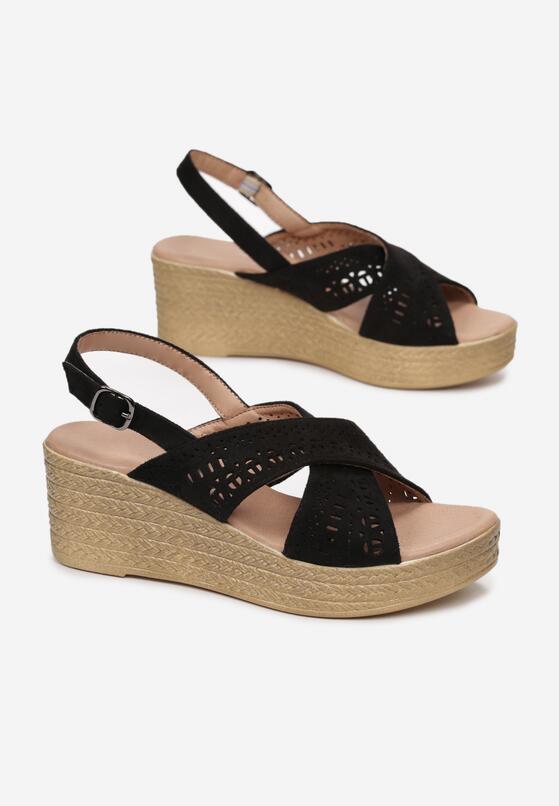 Czarne Sandały Betty
