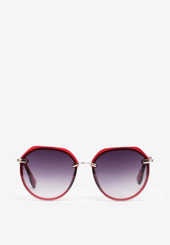 Bordowe Okulary Corraerah