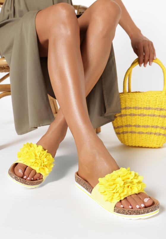Żółte Klapki Diolea