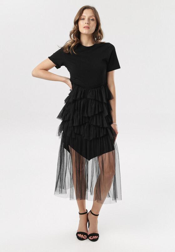 Czarna Sukienka Yavia