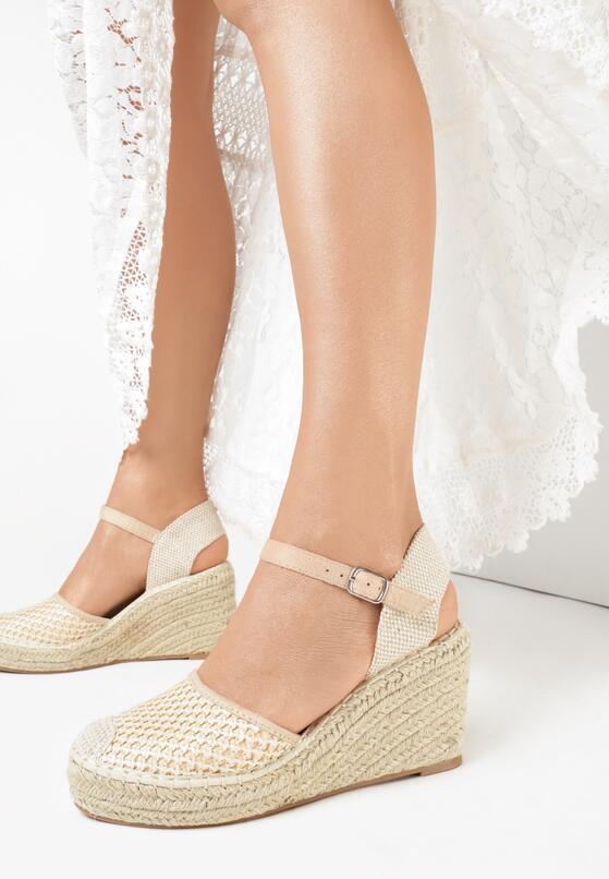 Beżowe Sandały Sereineh
