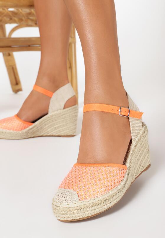 Pomarańczowe Sandały Sereineh