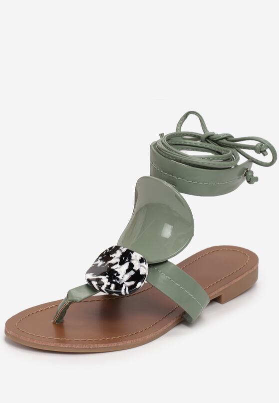 Miętowe Sandały Valsharess