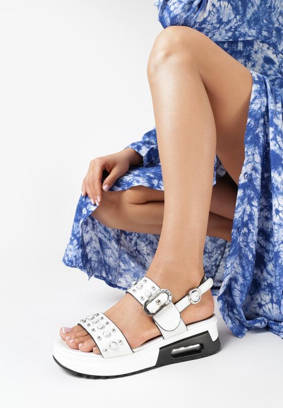 Białe Sandały Echolise
