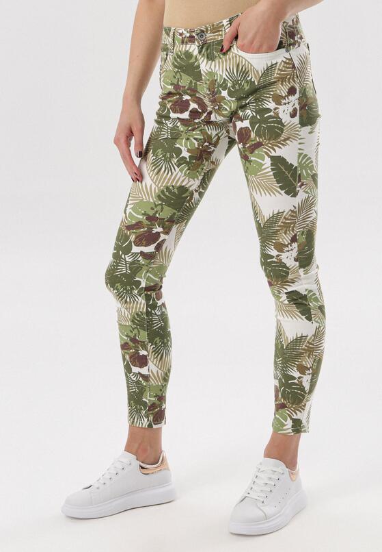 Biało-Zielone Spodnie Vivielori