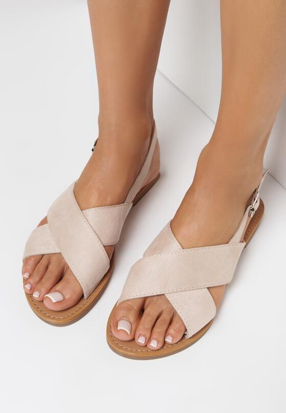 Beżowe Sandały Mayme