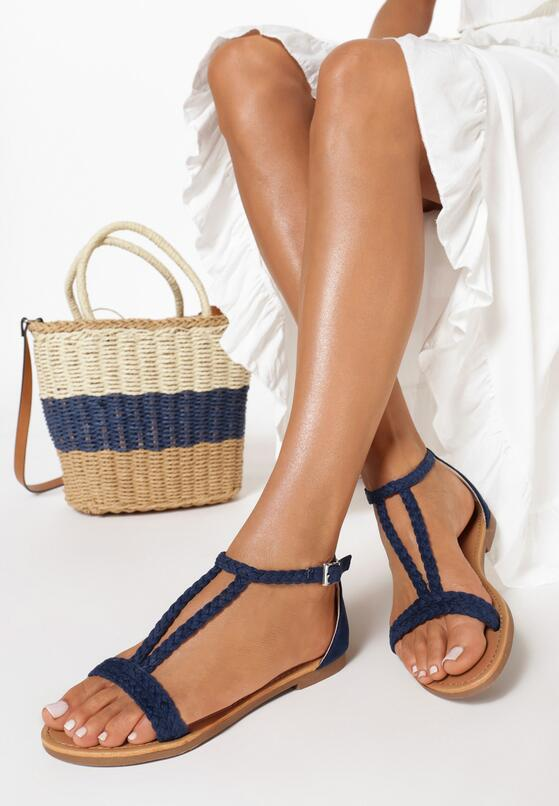Granatowe Sandały Lamemelle