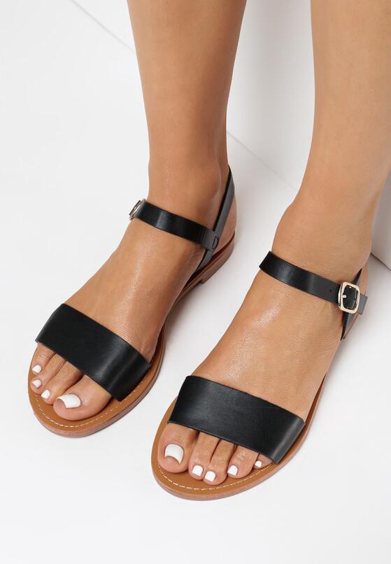 Czarne Sandały Halilis