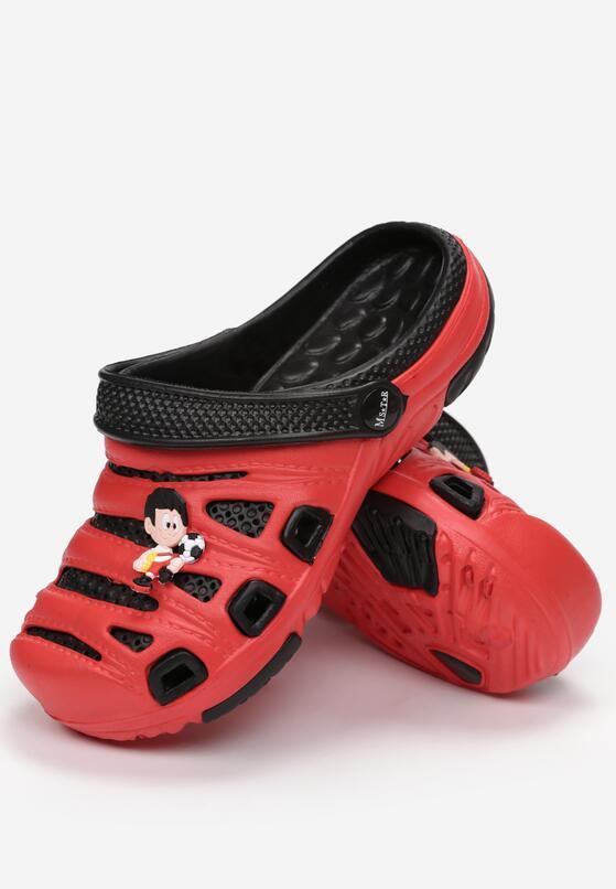 Czarno-Czerwone Klapki Eirebel