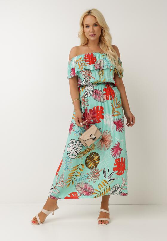 Miętowa Sukienka Calynilla