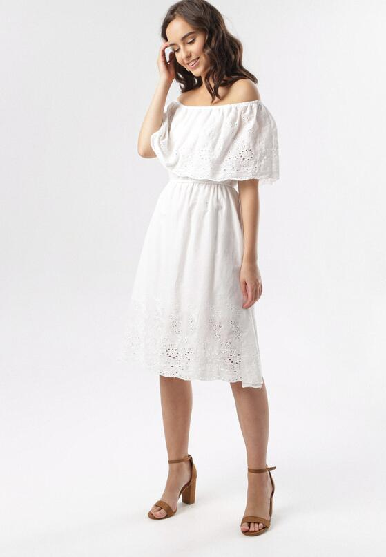 Biała Sukienka Asilise