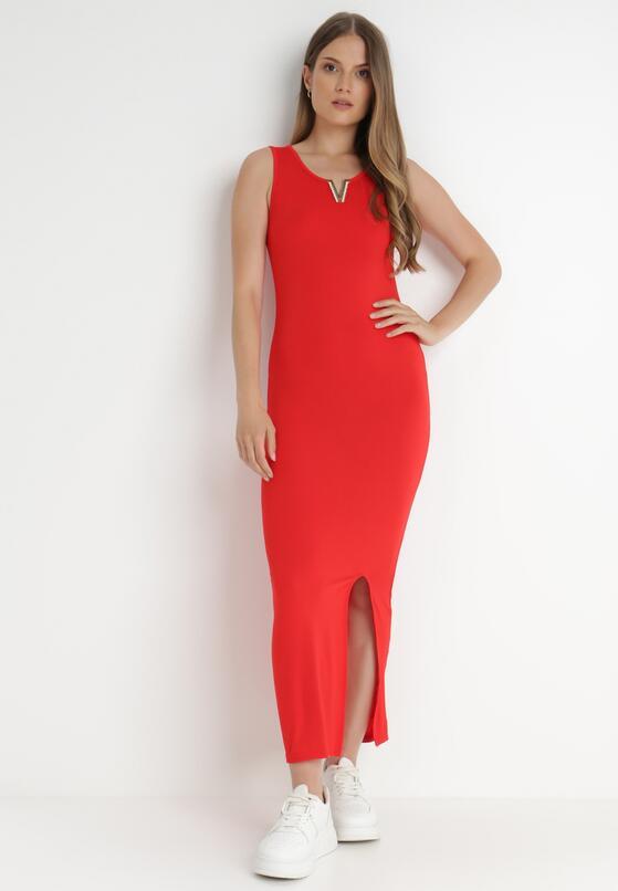 Czerwona Sukienka Auranne