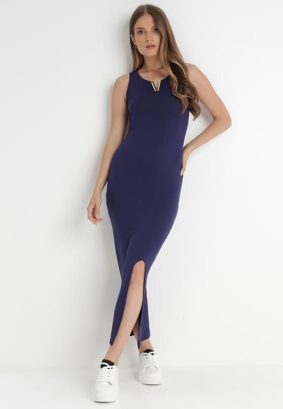 Granatowa Sukienka Auranne
