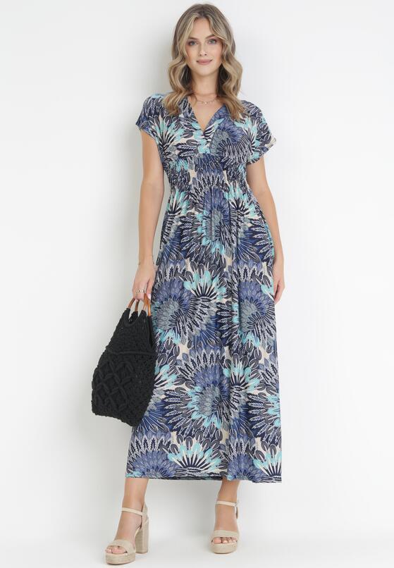Granatowo-Niebieska Sukienka Adriafa