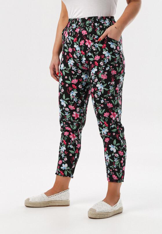 Czarno-Różowe Spodnie Arrixie