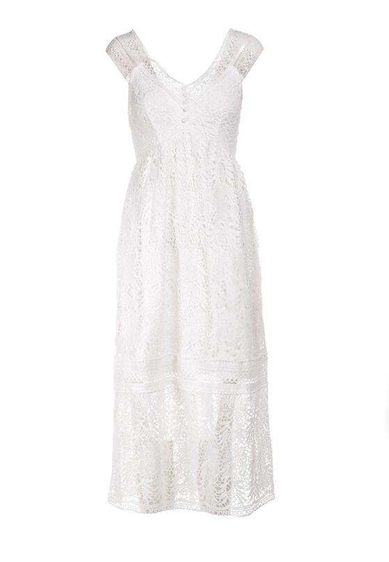 Biała Sukienka Talodenah
