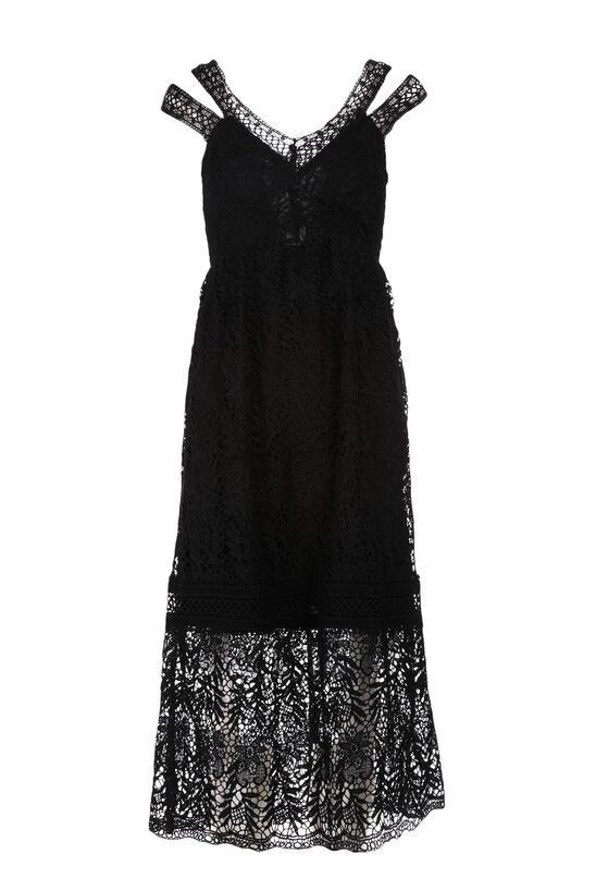 Czarna Sukienka Talodenah