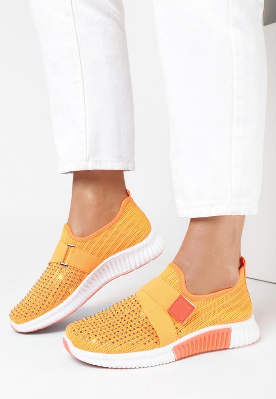 Pomarańczowe Buty Sportowe Loraelura