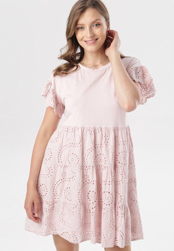 Jasnoróżowa Sukienka Kahlirelia