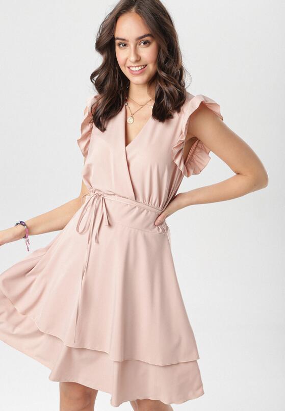 Ciemnoróżowa Sukienka Ermenegilda