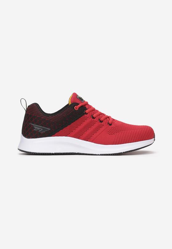 Czerwono-Czarne Buty Sportowe Sereivia