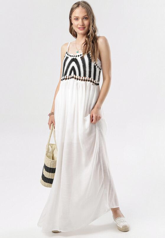 Biała Sukienka Bririnda