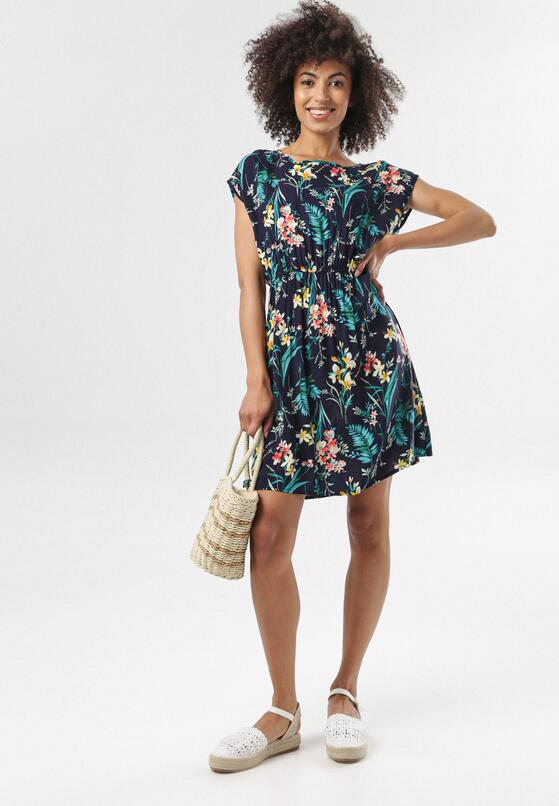 Granatowa Sukienka Naussa