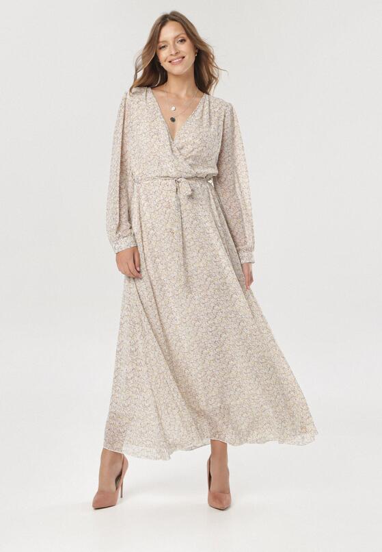Biało-Fioletowa Sukienka Doryrianne