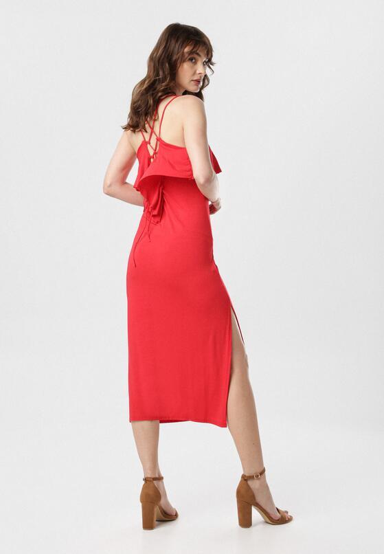 Czerwona Sukienka Sabrinisse