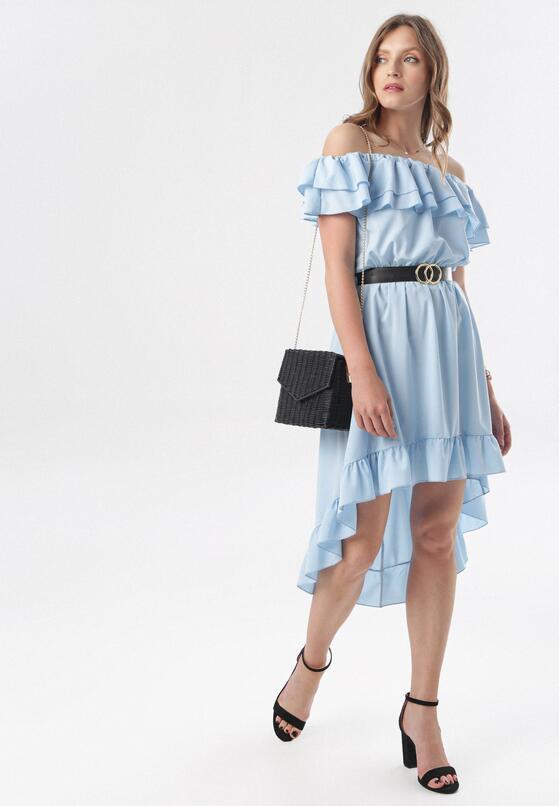 Niebieska Sukienka Physamellia