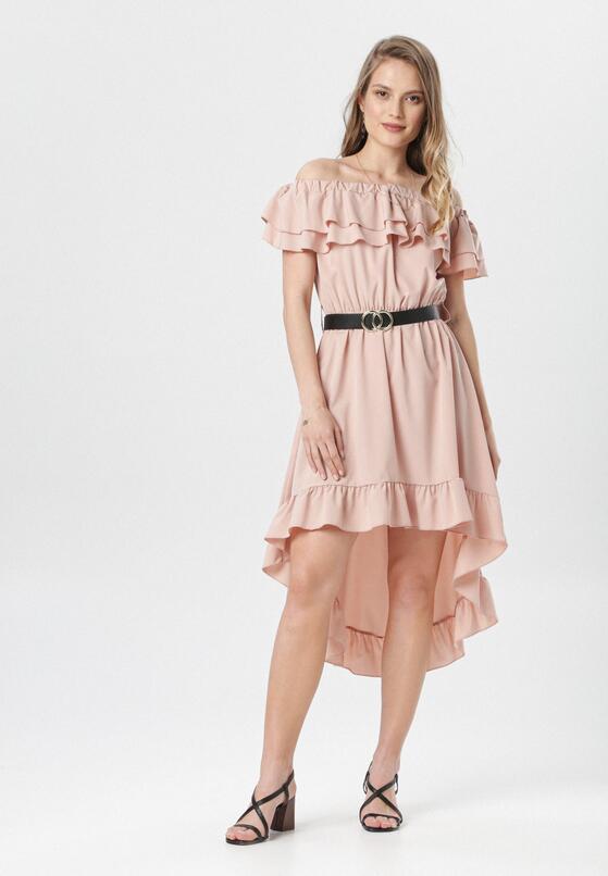 Różowa Sukienka Physamellia
