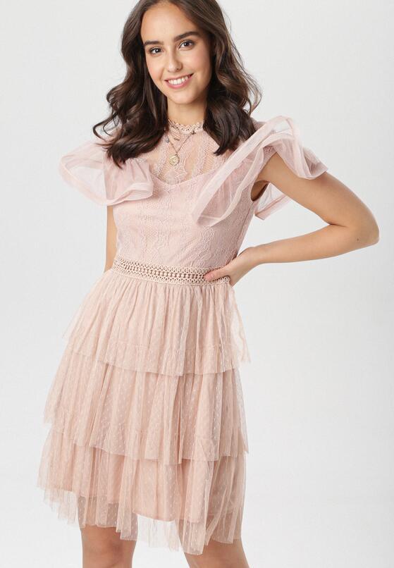 Jasnoróżowa Sukienka Raiseise