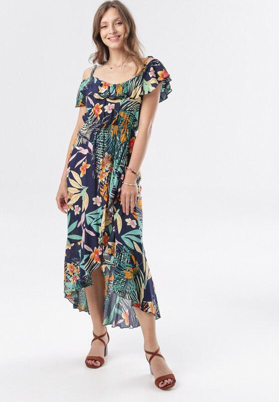 Granatowa Sukienka Ciriliphis