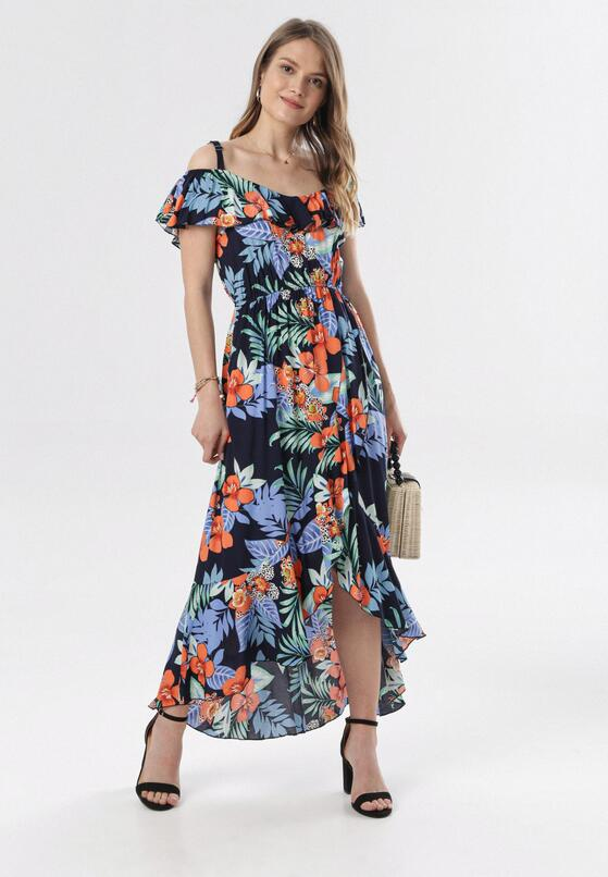 Granatowa Sukienka Alcilane