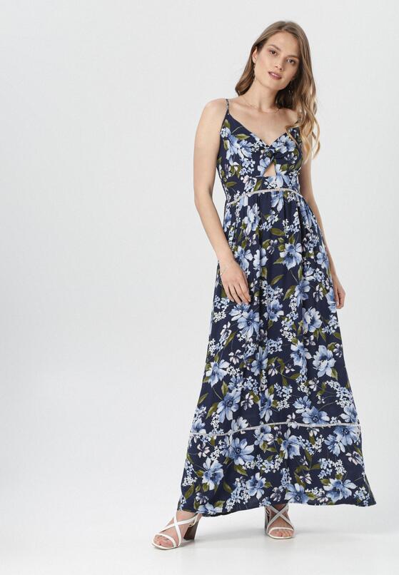 Granatowa Sukienka Elding