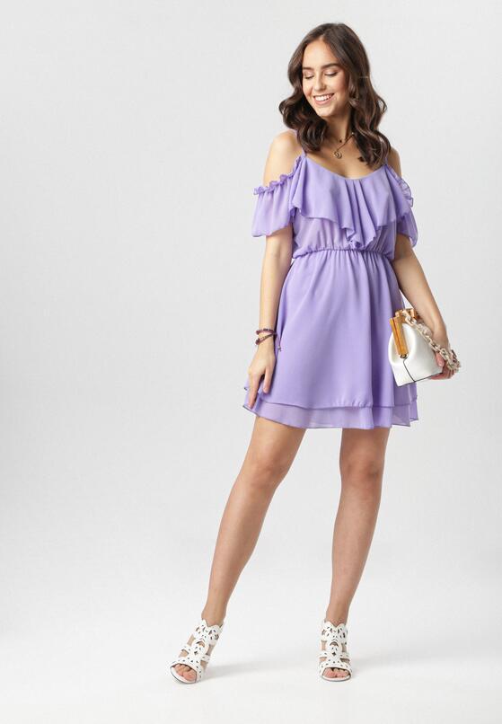Fioletowa Sukienka Adriaguna