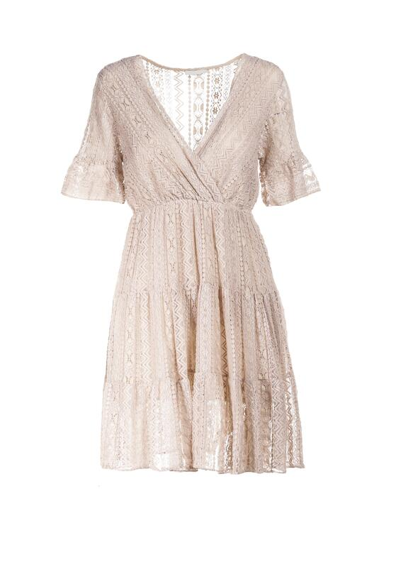 Beżowa Sukienka Heligina