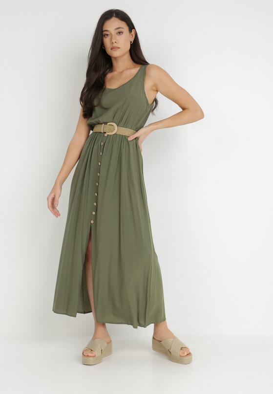 Ciemnozielona Sukienka Cherinoe