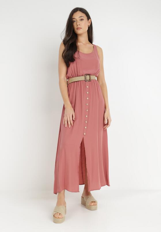 Łososiowa Sukienka Cherinoe