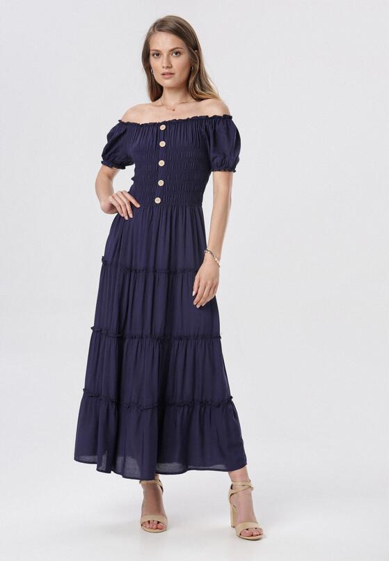 Granatowa Sukienka Ciririla