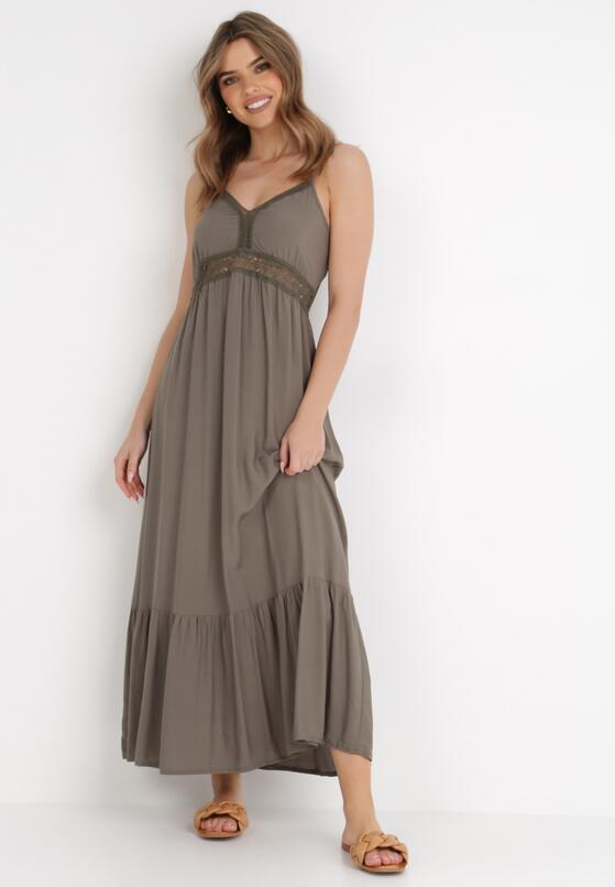 Ciemnozielona Sukienka Criathyia