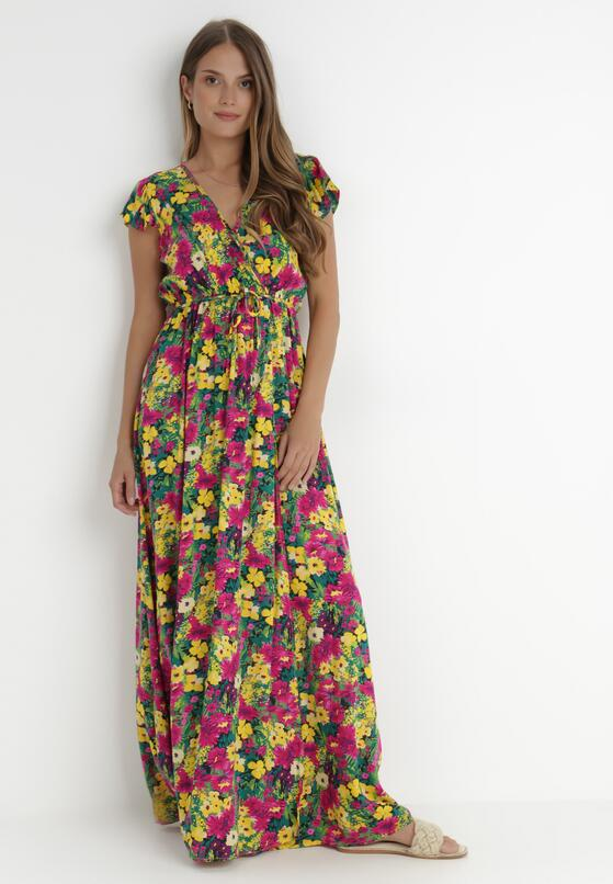 Żółto-Różowa Sukienka Oceshi
