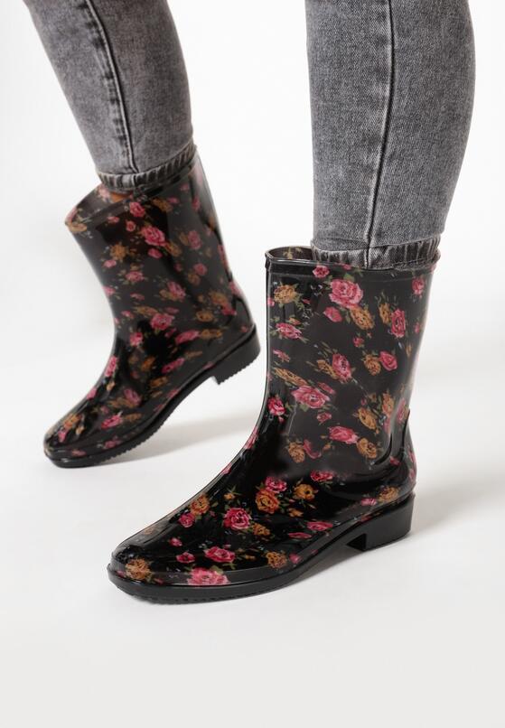 Czarno-Różowe Kalosze Oledelia