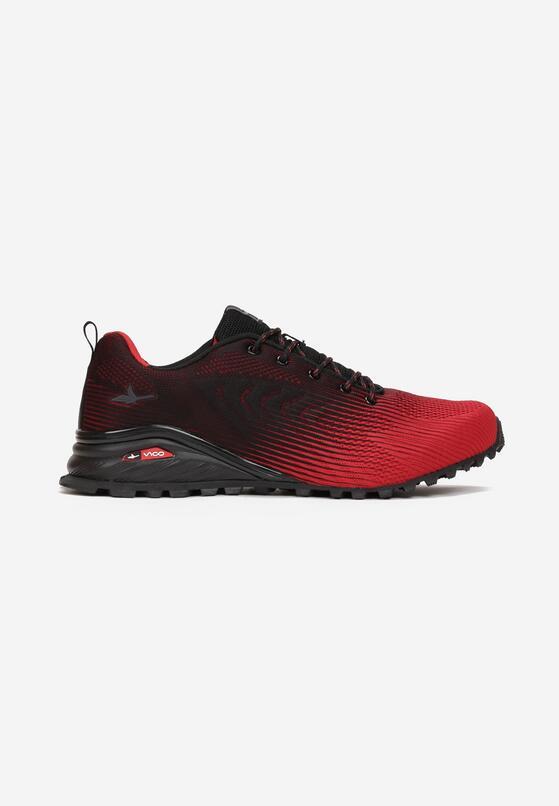 Czarno-Czerwone Buty Sportowe Lorairial