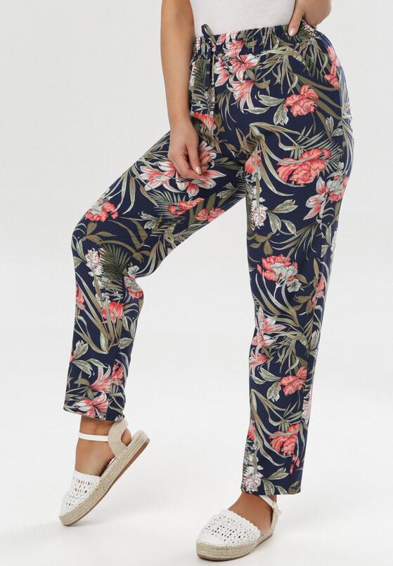 Granatowe Spodnie Saloniassi