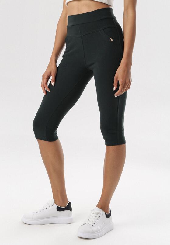 Ciemnozielone Spodnie Evameine