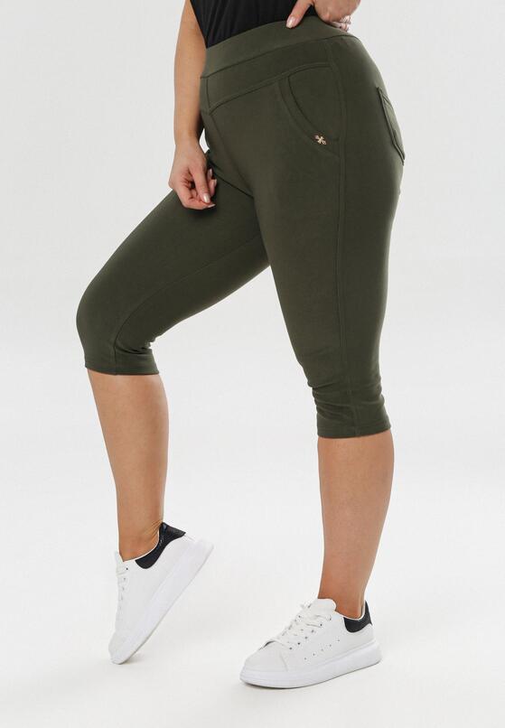 Ciemnozielone Spodnie Jennita