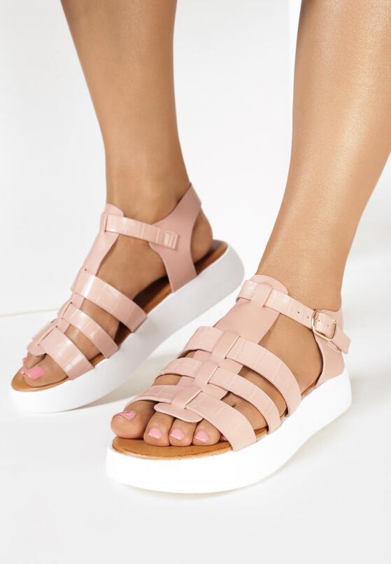 Różowe Sandały Chenethea
