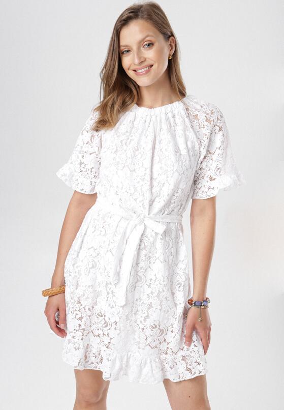 Biała Sukienka Ocealyn