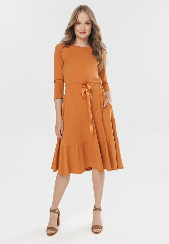 Camelowa Sukienka Vivialin